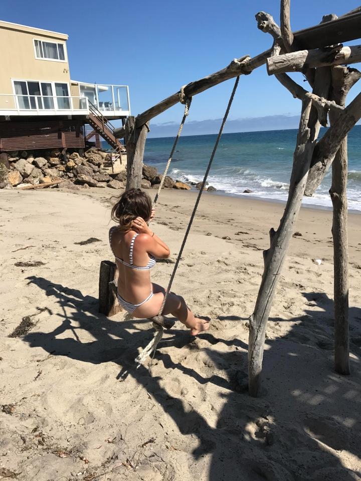 Malibu beach swing