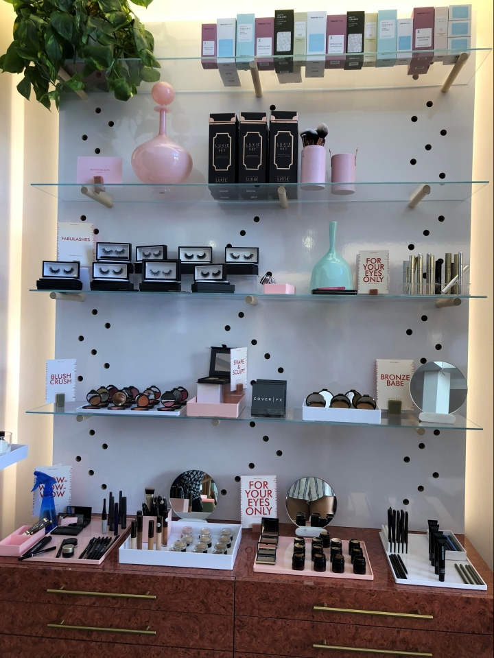 revolve beauty shelf